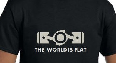 T-shirt The World is Flat